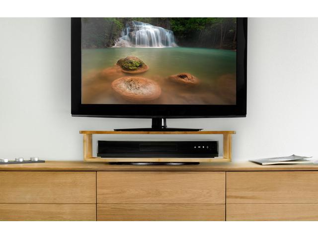 Prosumer S Choice Natural Bamboo Tv Swivel Stand 2 Tier For Led