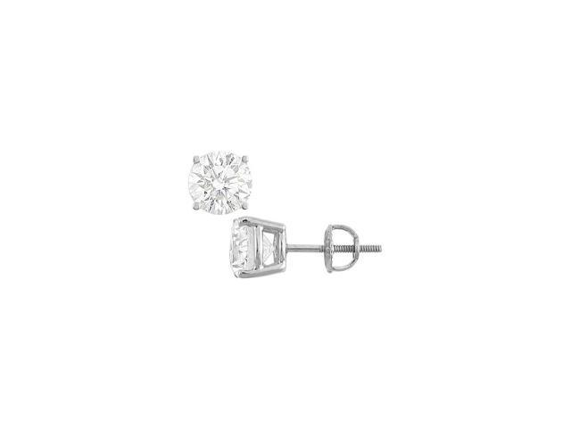 14K White Gold Cubic Zirconia Stud Earrings Triple AAA Quality CZ 35 Carat  Total Gem Weight - Newegg com