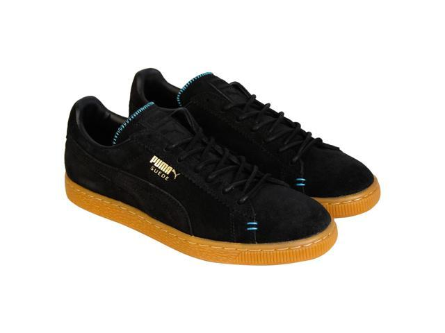 info for 65752 91f11 Puma Suede Classic Crafted Black Bluebird Mens Lace Up Sneakers - Newegg.com