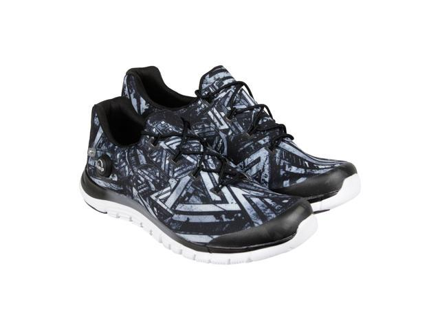 cf5c1482f8f Reebok Zpump Fusion Geo Graphite Black White Mens Athletic Running Shoes