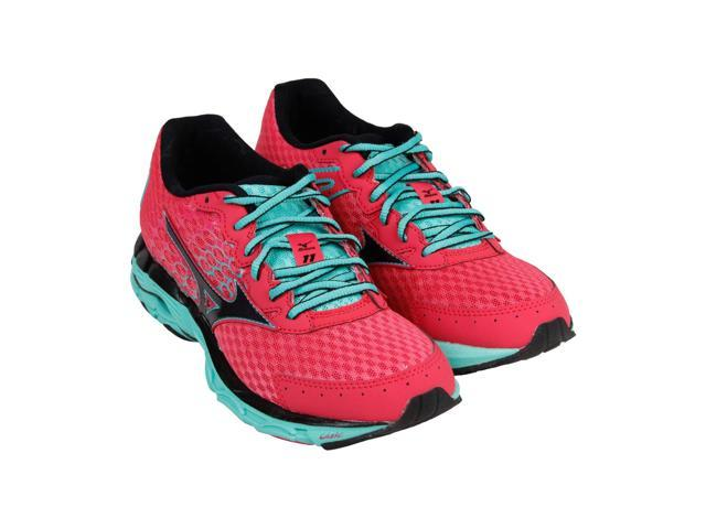 quality design e89dc 68811 Mizuno Wave Inspire 11 Pink Black Green Womens Athletic Running Shoes -  Newegg.com