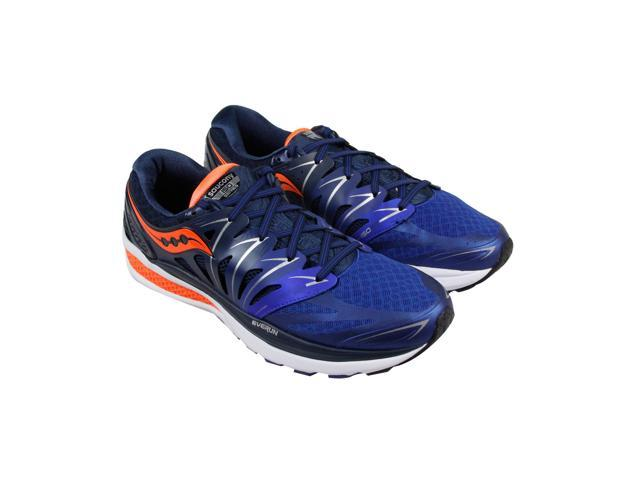 9ae1e5f6 Saucony Hurricane ISO 2 Navy Blue Orange Womens Athletic Running Shoes