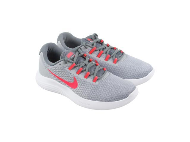 44739889efe8 Nike Lunarconverge Grey Red Grey Womens Athletic Running Shoes ...