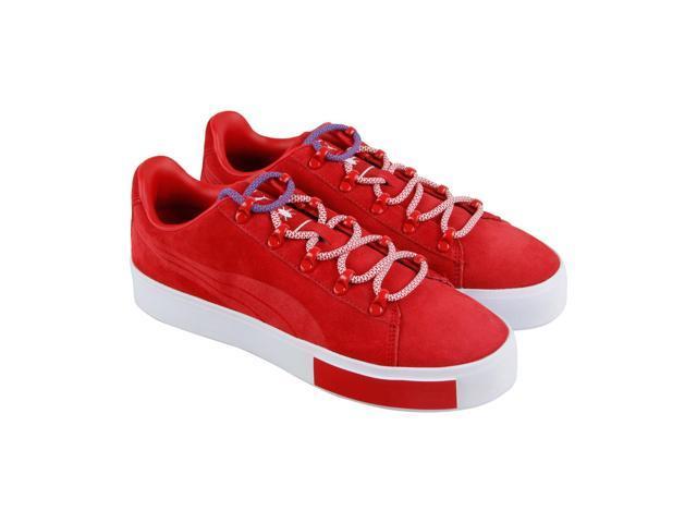 742d78925d23 Puma X Dp Court Platform S High Risk Red Mens Lace Up Sneakers ...