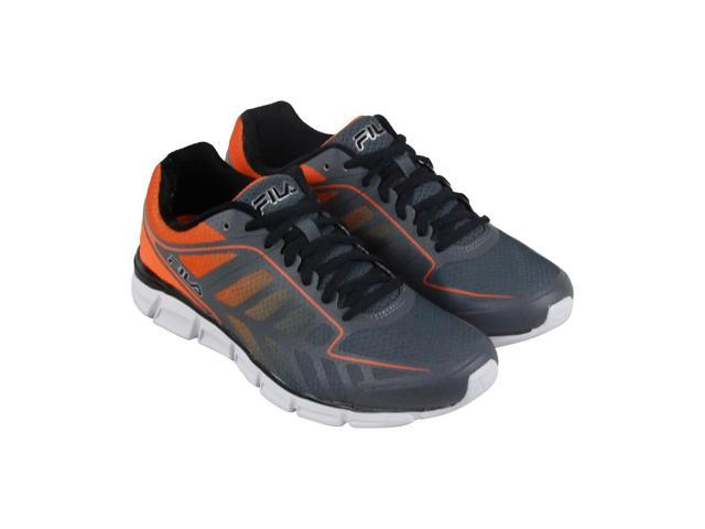 ed25c98992e0 Fila Memory Finity 2 Gray Orange Mens Athletic Running Shoes ...