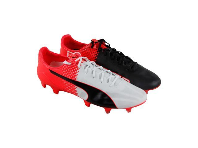 325e657ea Puma Evospeed Sl Ii Fg Puma White Puma Black Red Blast Mens Athletic Soccer  Shoes