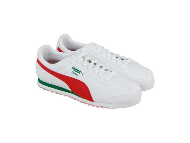 03fdb30fe10a Puma Roma L Slash White High Risk Red Mens Lace Up Sneakers ...