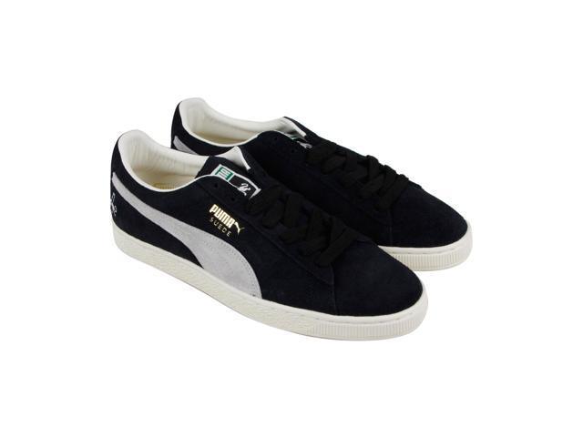 Puma Classic Rudolf Dassler Black White Mens Lace Up Sneakers