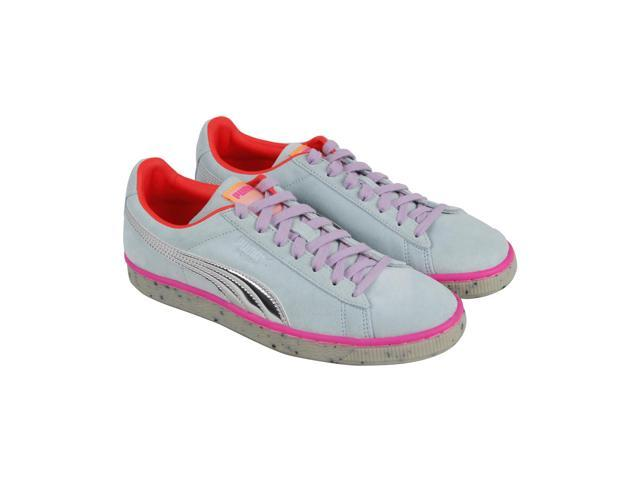 e0ff0d82b316 Puma Suede Candy Princess Sophia Webster Corydalis Blue Silver Womens Lace  Up Sneakers