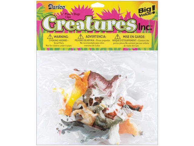 Darice 1029 02 2 Quot Plastic Creatures Jungle Dogs 12 Piece