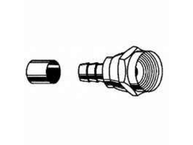 conn coaxial crimp-on rg6 leviton mfg tv wire and cable fittings 830-c5007