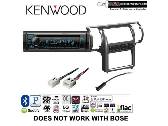 Kenwood KDCX303 Radio Install Kit with Bluetooth, CD Player, USB/AUX Fits  2003-2004 Infiniti G35 (Pewter) (Dual zone A/C controls) DOES NOT WORK WITH