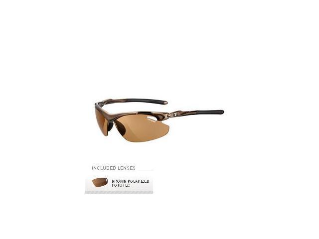 519747610cbe1 Tifosi Tyrant 2.0 Polarized Fototec Sunglasses - Mocha - Newegg.com
