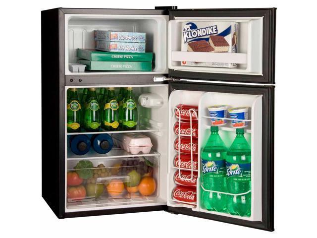 Haier HC32TW10SB 3.2cu Ft 2Door Mini Refrigerator For Garage Dorm Office    Black