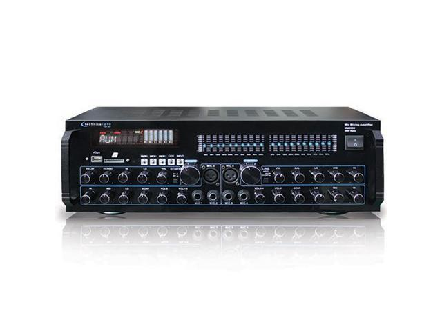 Technical Pro MM2000 Professional Mic Mixing Amplifier with USB & SD Card  Inputs - Newegg com