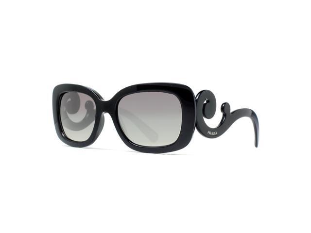 db1048b6d5e7 Prada SPR 27O 1AB-3M1 Black Gray Gradient Women s Baroque Square Sunglasses