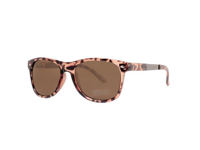 b68ee5e19f Kenneth Cole Reaction KC1259 52X Women s Tortoise Light Brown Square  Sunglasses