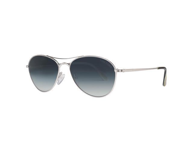 c7dca4f5d76 Tom Ford Oliver TF495 18W Rhodium Blue Gradient Aviator Sunglasses
