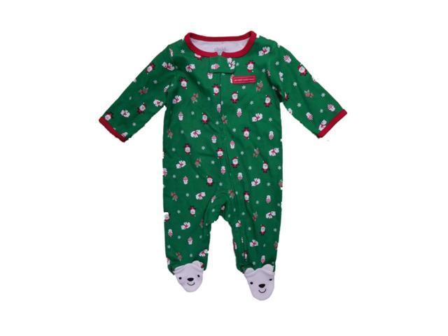 64702663229b04 Carters Infant Boys My First Christmas Polar Bear Sleeper Sleep   Play NB