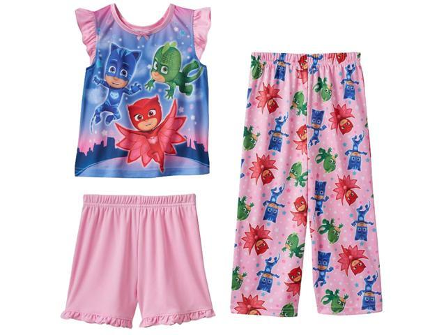 Disney Babies Toddler Girls Silky PJ Masks Pajamas Pink Hero 3pc Sleep Set  2T