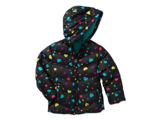 753f315cf Healthtex Infant Girls Black Hearts Winter Coat Bubble Puffer Jacket 24m