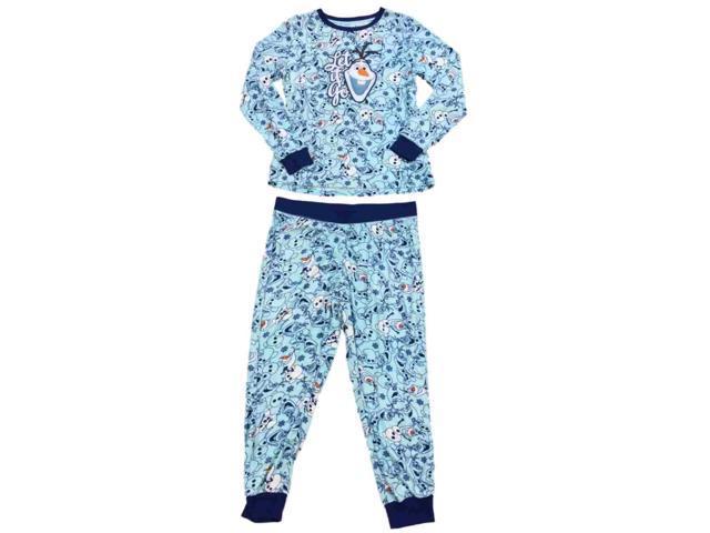 f290d7cad881 Disney Womens Frozen Olaf Snowman Fleece Pajamas Let It Go ...