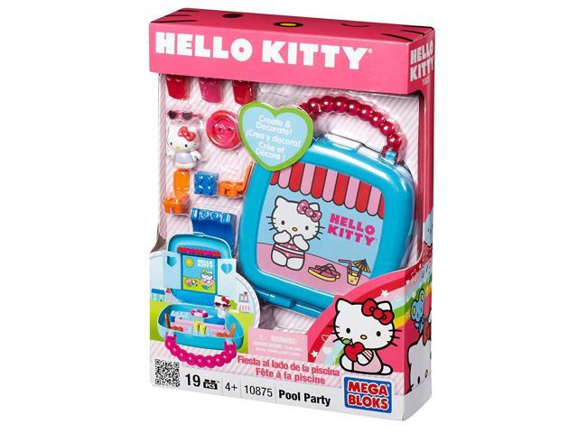 Mega Bloks Hello Kitty Pool Party Building Set 10875