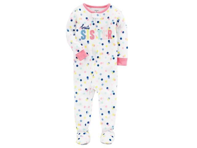 fa5360fea Carters Infant Girls Best Sister Cotton Sleeper Footie Pajamas Sleep ...