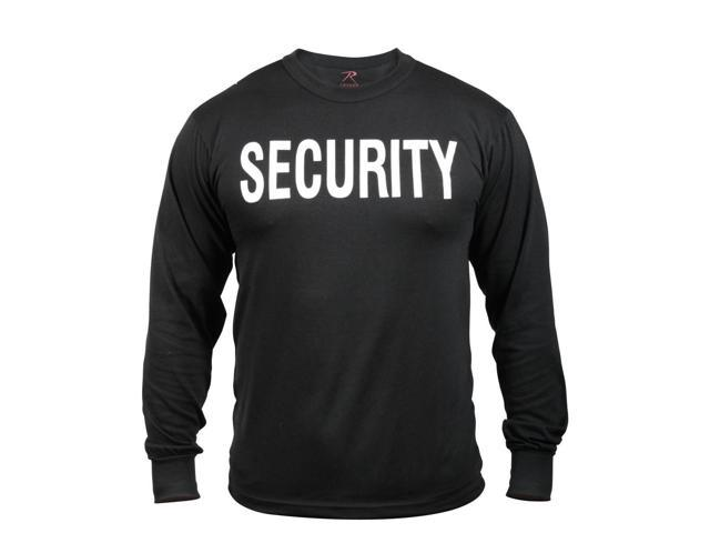 Long Sleeve Black Security T-Shirt - Size 3XL - Newegg.com 92c98122c5d