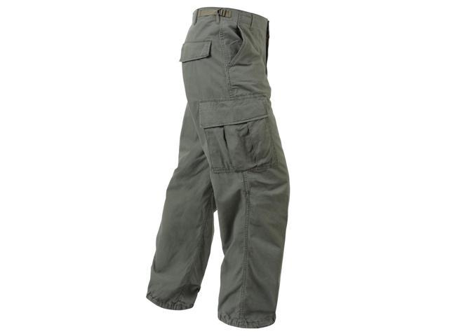 Vintage Vietnam Era Army Fatigue Pants in Olive Drab - XS - Newegg.com 74e64b3c453