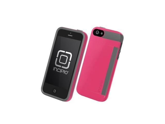 reputable site d3886 3fe87 Incipio Stowaway Case and Credit Card Holder for Apple iPhone 5/5S  (Pink/Gray) - Newegg.ca