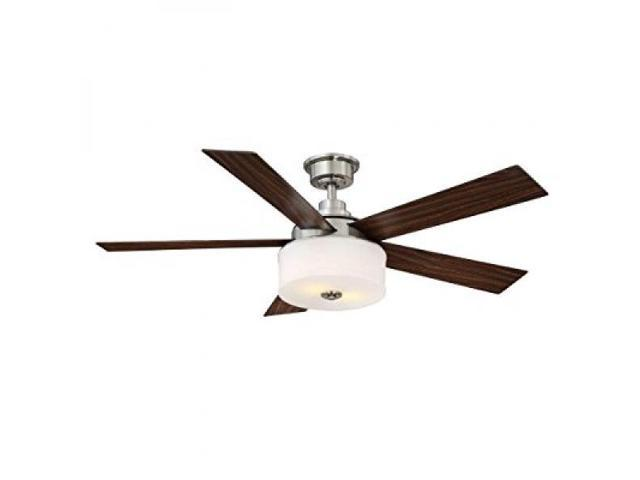 Home Decorators Collection Lindbrook 52 In Brushed Nickel Ceiling Fan W Remote