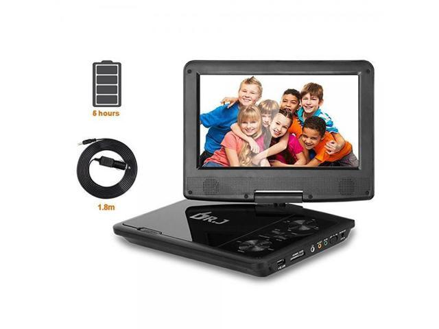 THZY 9001 DR J 5 Hours Swivel Screen Portable DVD Player With Built-In  Rechargeable Battery And USB/SD Card Reader, 5 9'/1 8 m Car Charger And  Battery