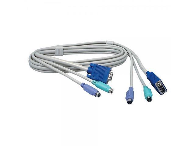 MALE KVM 6/' Cable PS//2 VGA MALE