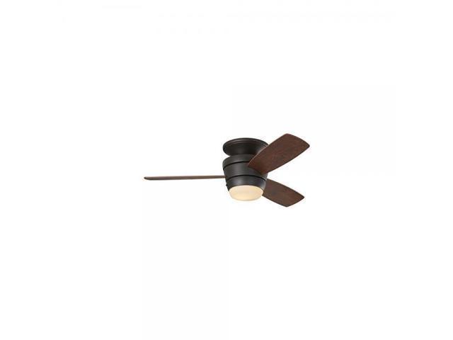 Harbor Breeze Mazon 44 Inch Bronze Flush Mount Indoor Ceiling Fan
