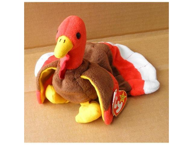 fe07368fe7e TY Beanie Babies Gobbles the Turkey Stuffed Animal Plush Toy - 7 inches  long - Brown