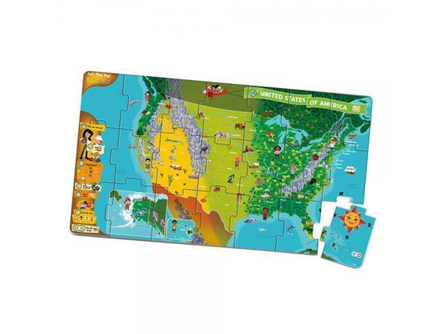LeapFrog LeapReader Interactive United States Map Puzzle (works with Tag) -  Newegg.com