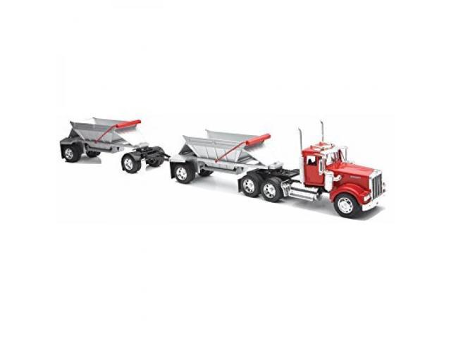 New Ray Toys 1:32 Scale Kenworth W900 Double Belly Dump Truck Semi Truck  Trailer - Newegg com