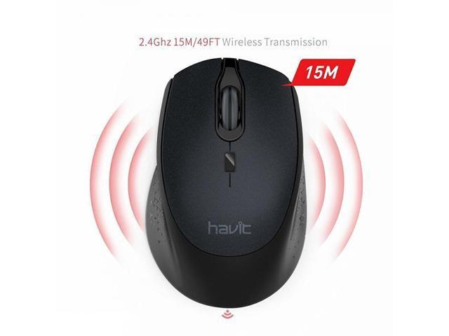 c97fd971a347 2.4G Wireless Mouse HAVIT 2000DPI Optical Mini Portable Mobile with USB  Receiver, 3 Adjustable DPI Levels, 4 Buttons for Notebook, PC, Laptop, ...