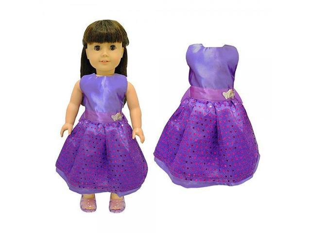 85eca929d135 Doll Clothes - Beautiful Purple Dress with Dots Outfit Fits American Girl  Doll, My Life Doll and 18 inch dolls