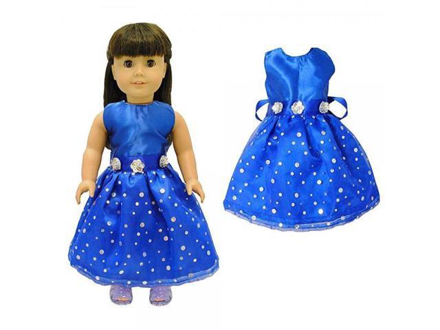 9a554cfa82d Doll Clothes - Beautiful Blue Dress Outfit Fits American Girl Doll