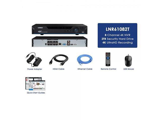 Lorex LNR61082T 4K NVR w/ 8 Channels (POE) 2TB HDD - Newegg com