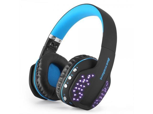 86d96ac2bf4 Beexcellent Bluetooth Headphones Wireless Foldable Noise Cancelling  Over-ear Headset with Microphone LED Light for