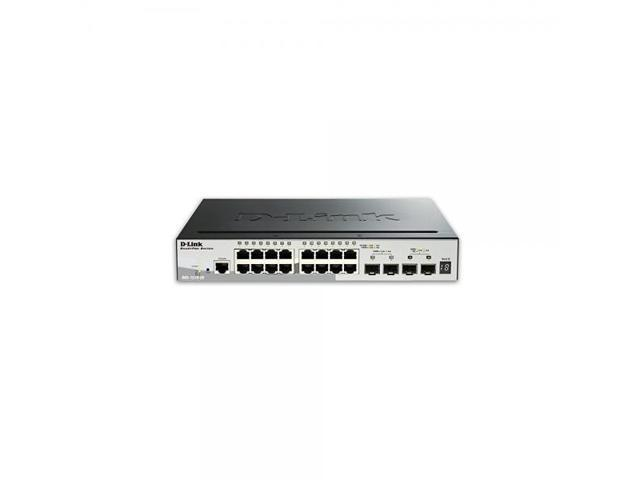 D Link Systems 20 Port SmartPro Stackable Switch 2 Gigabit SFP Ports And