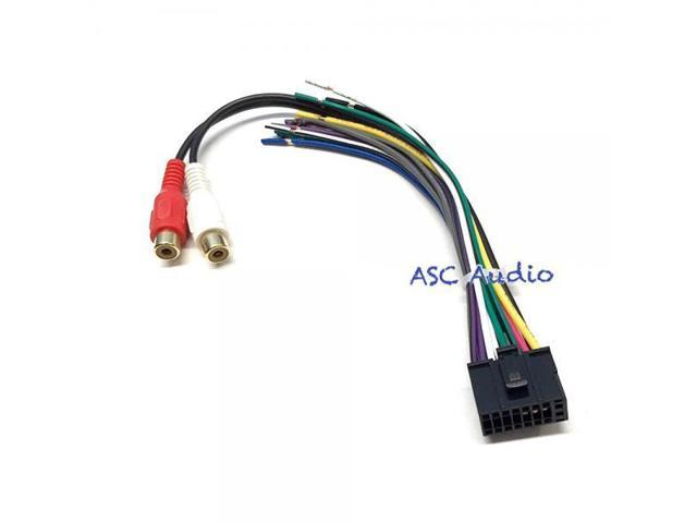 asc audio wire harness and speaker plug for dual audio 16 pin xd , xdh ,
