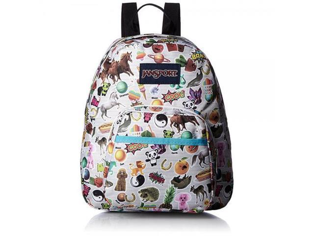 JanSport Half Pint Backpack- Discontinued Colors (Multi Stickers) Limited  Edition 045148ac40cc8