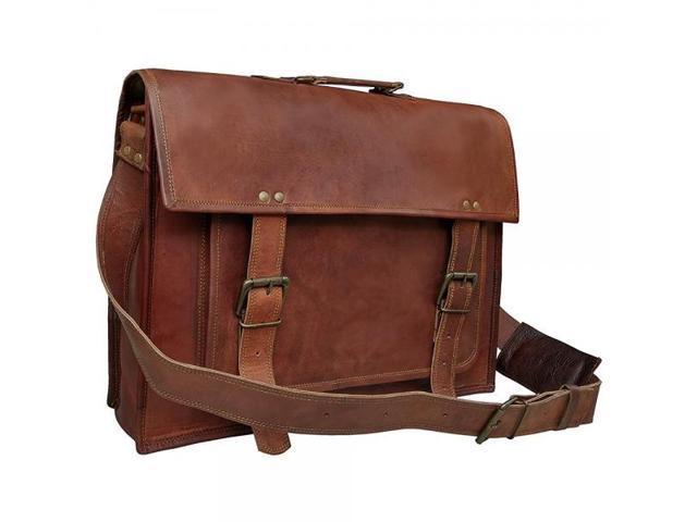 18 Inch Leather Messenger Bags For Men Women Mens Briefcase 17 Laptop Bag Best Computer Shoulder Satchel School Distressed