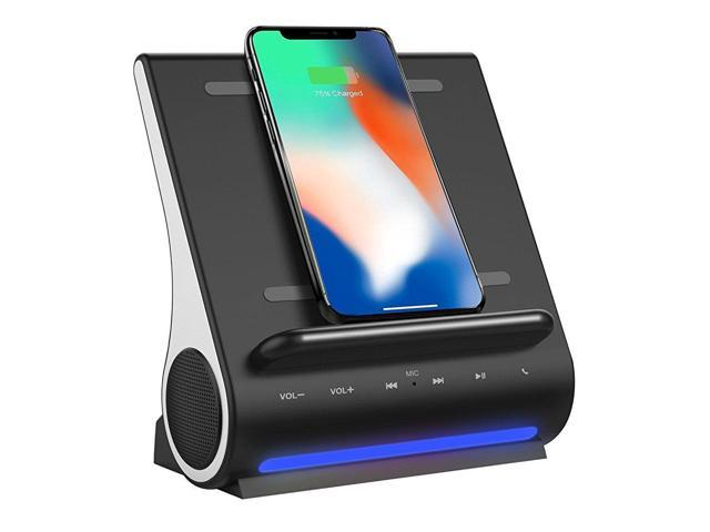 AZPEN DOCKALL D108 10W Bluetooth Speaker System and Fast 15W Qi Wireless  Charging Docking Station for iPhone X/8/8plus Samsung S8/S8plus - Newegg com