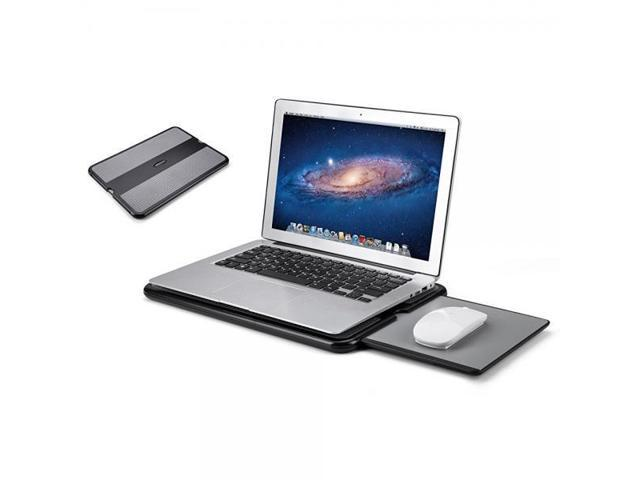 Pleasing Abovetek Portable Laptop Lap Desk W Retractable Left Right Mouse Pad Tray Non Slip Heat Shield Tablet Notebook Computer Stand Table W Sturdy Stable Short Links Chair Design For Home Short Linksinfo
