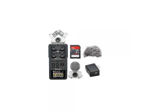 Zoom H6 Portable Recorder Kit with a Custom Windbuster, AD-17 AC Adapter  and a 16GB SDHC Memory Card Ultra - Newegg com